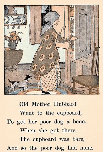 Old Mother Hubbard Went To The Cupboard Old Mother Hubbard Old Mother Hubbard