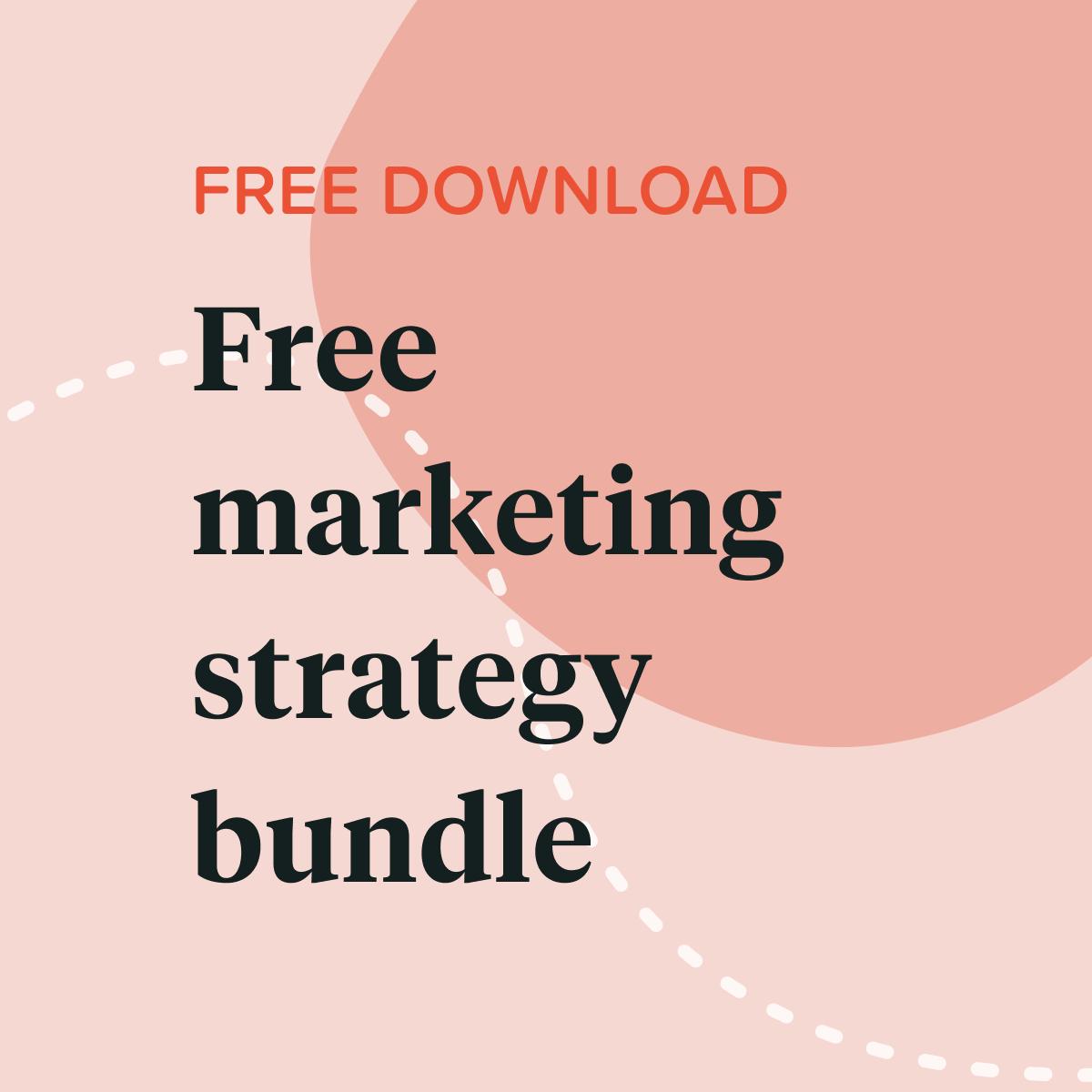 Marketing Strategy Worksheet Bundle In