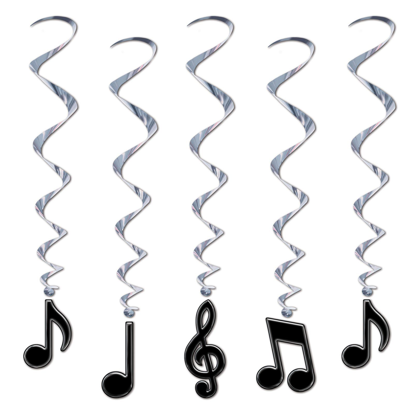 musical note whirls themed parties decoration and rock