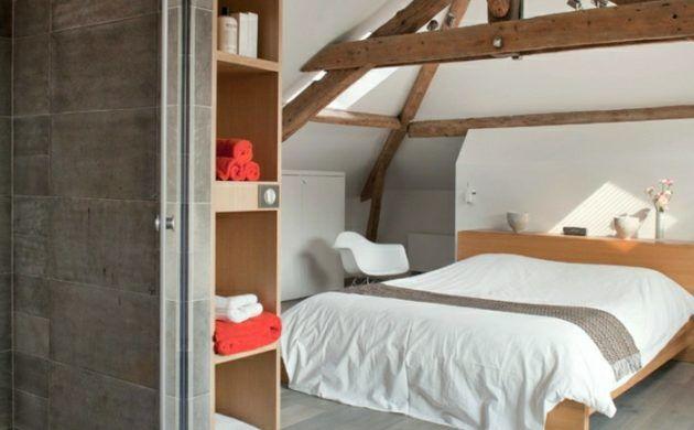 schlafzimmer dachschräge holzdecke verleiht dem interieur mehr - ideen schlafzimmer mit dachschrage