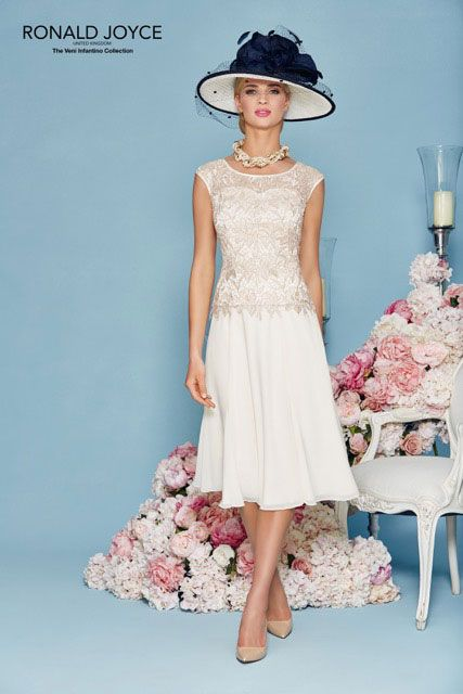 A Line Princess Scoop Neck Knee Length Chiffon Lace Zipper Up Cap Straps Sleeveless Yes Ivory Spring Summer General Mother Of The Bride Dress