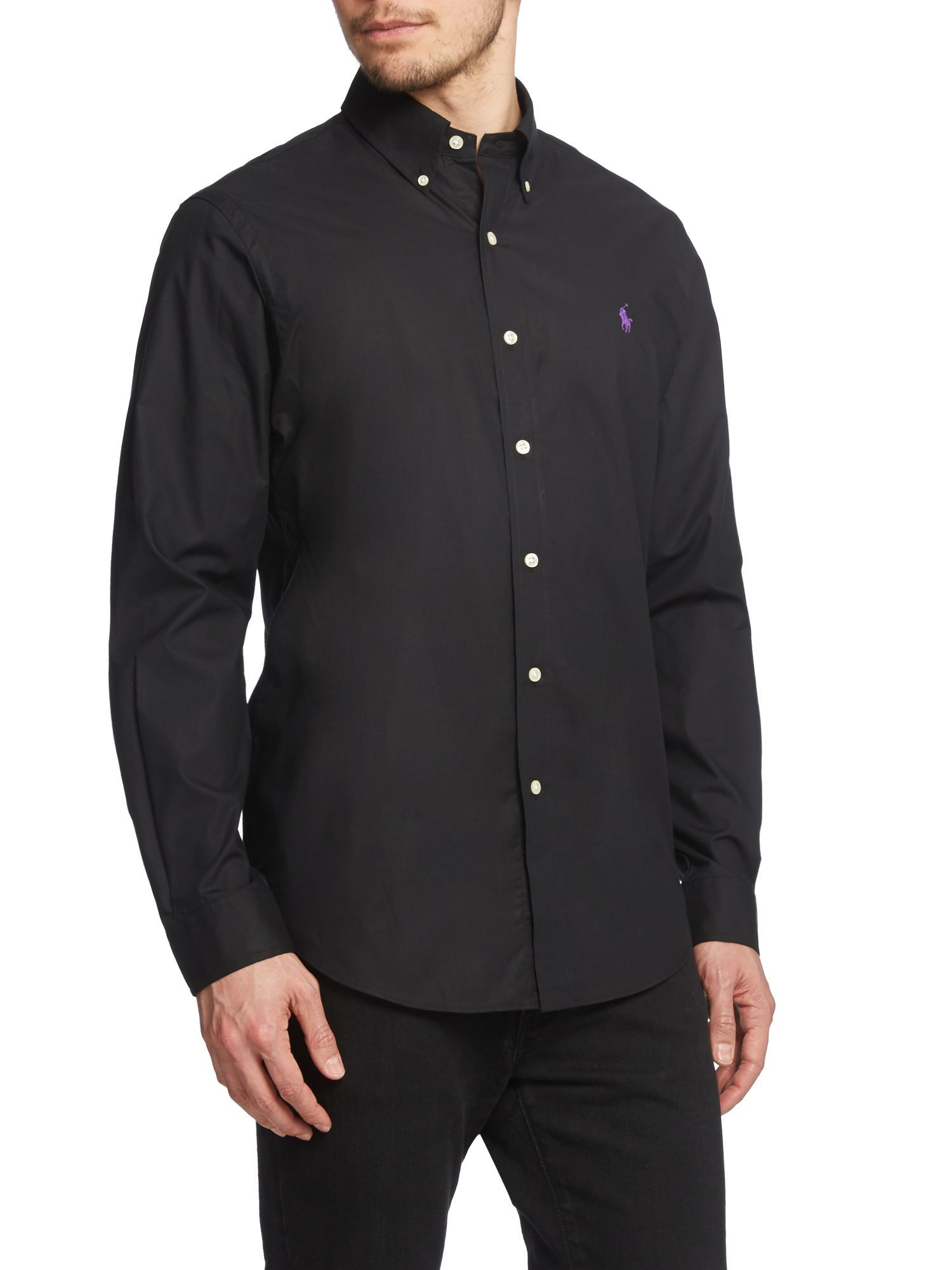 Black Ralph Lauren Button Down
