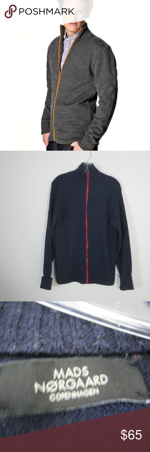 Mens Mads Norgaard Klemens Cardigan Sweater Size S Mads