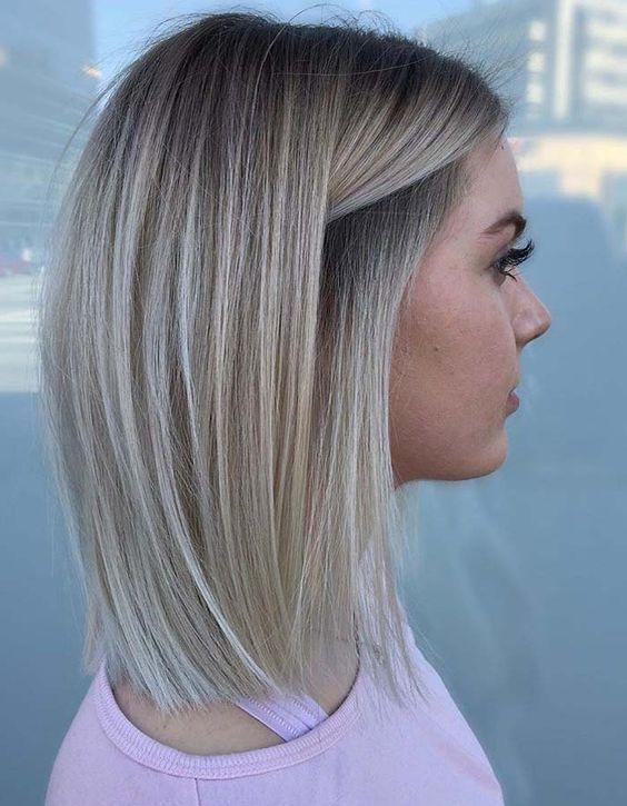 Amazing hairstyle for medium hair  #BobHairstyles  Amazing hairstyle for medium …