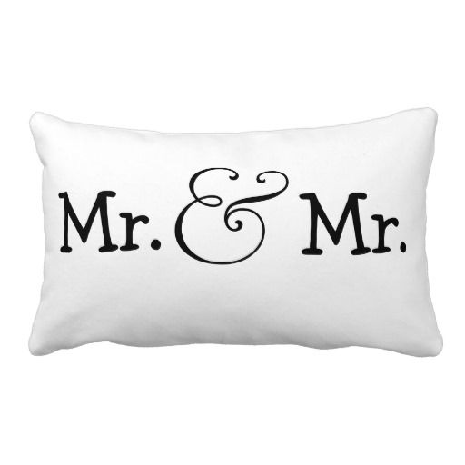 Mr And Mr Two Grooms Wedding Gift Lumbar Pillow Zazzle Com Wedding Gifts For Bride And Groom Wedding Gifts For Groom Wedding Gifts For Bride