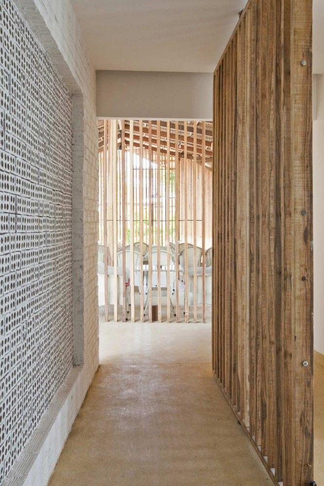 concrete block + timber
