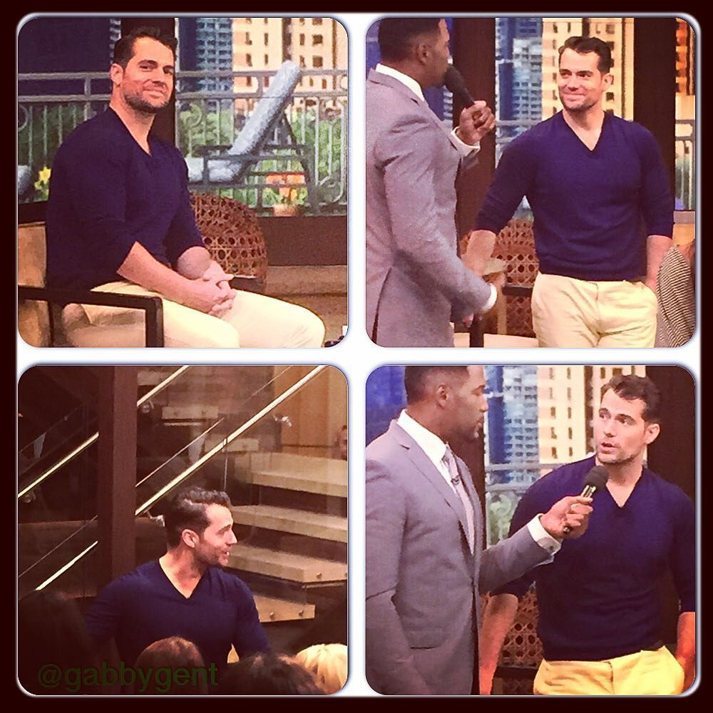Went to @kellyandmichael this morning with @most_beautifulmen !! So exciting to see #henrycavill in person. We had a great time! #teammbm #nyc #manfromuncle