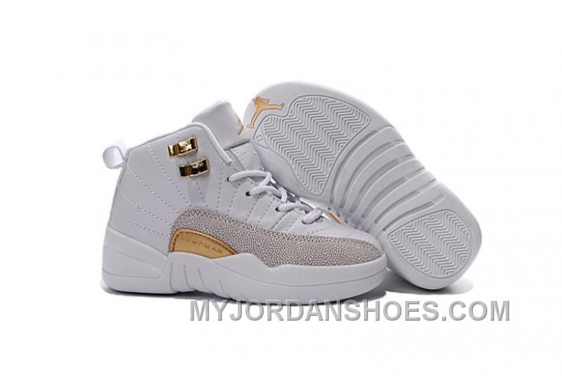 reputable site 1d03e 5c460 Shop Air Jordan 12 OVO White And Gold Release Date For Kids ...