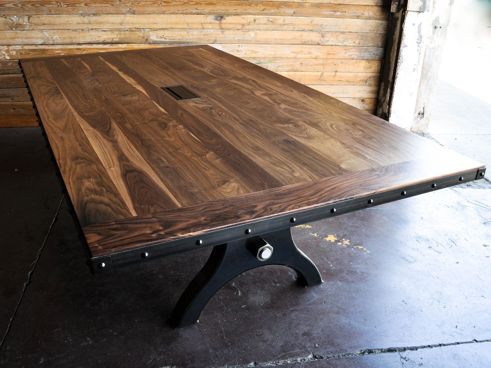 Hure Conference Table   Vintage industrial furniture, Industrial ...