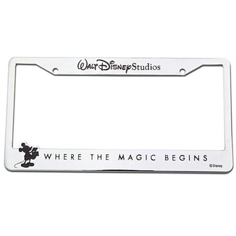 Walt Disney Studios Mickey Mouse License Plate Frame - Chrome ...