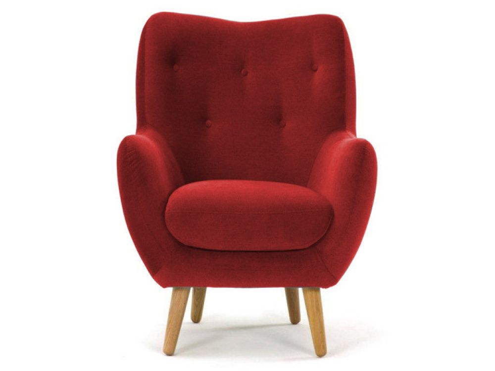 High Quality Lilly Dark Red Fabric Armchair | Armchairs From FADS