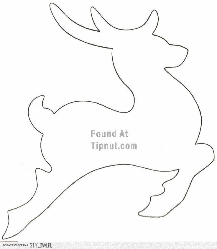 szablon na renifera - Szukaj w Google | Reindeer | Pinterest ...
