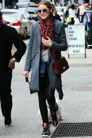 d353c8646c1 Olivia Palermo wearing Lanvin High Top Sneakers