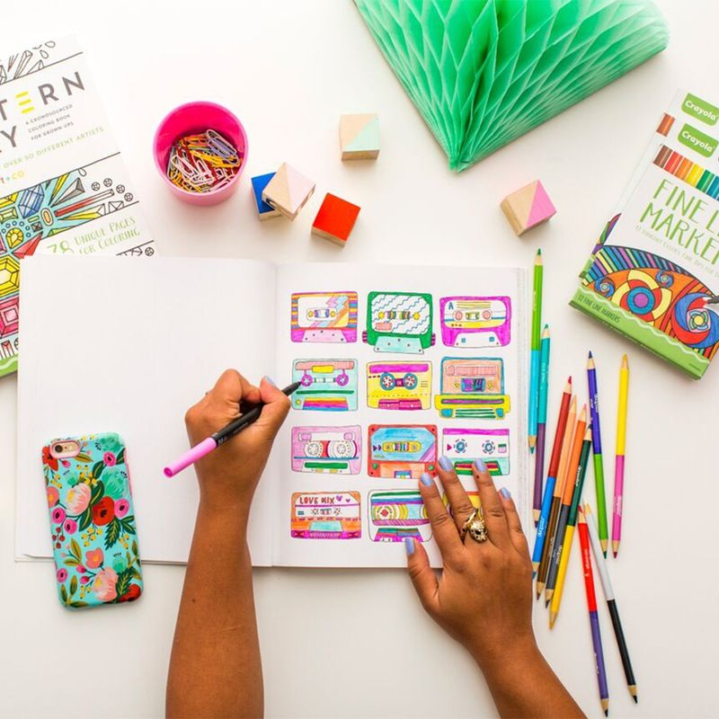 Pattern Play: A Coloring Book for Grown-Ups   Brit + Co. Shop   DIY Online classes, DIY kits and creative products from makers you'll love.
