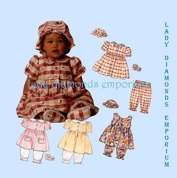 63d0fc2f9554 McCalls 6957 Baby Girls Dress Sundress Pantaloons Bloomers ...