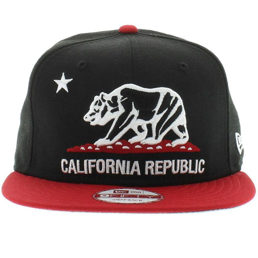 2b353069 California Republic Black, Red, White SNAPBACK in 2019 | Hell ...