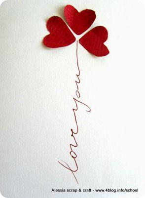 Biglietto fai da te veloce per san valentino card pinterest biglietto san valentino e - Decorazioni san valentino fai da te ...
