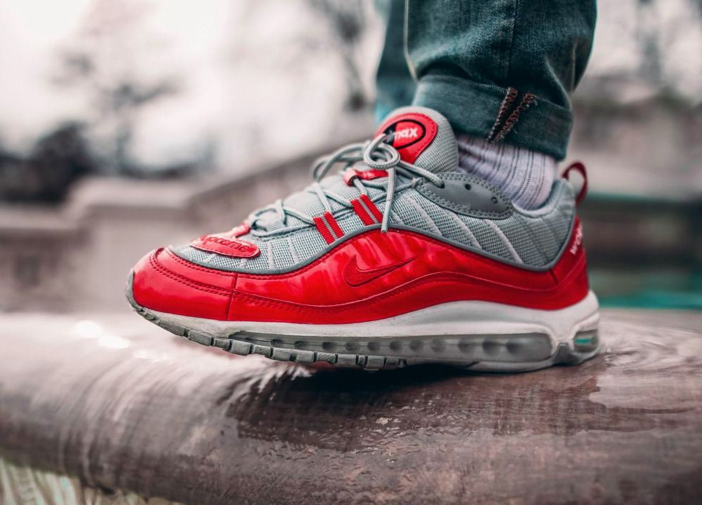 42d0cb316d Supreme x Nike Air Max 98 - Varsity Red - 2016 (by souvenirsombre) Clean  and care for your sneakers with shoe trees by Sole Trees #Sneakers  #ShoeTrees ...