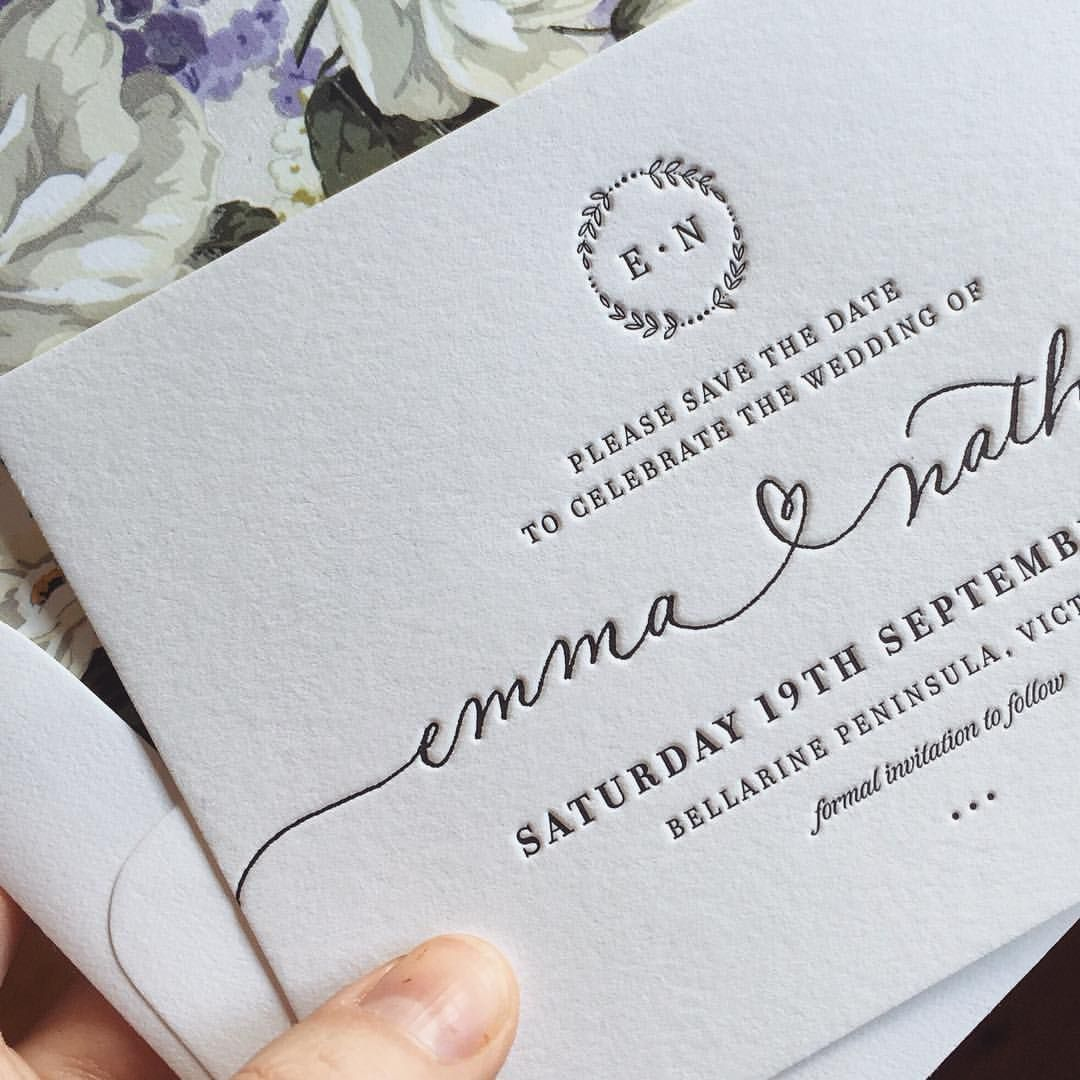 Beautiful crisp black letterpress on 100% cotton, with our original ...