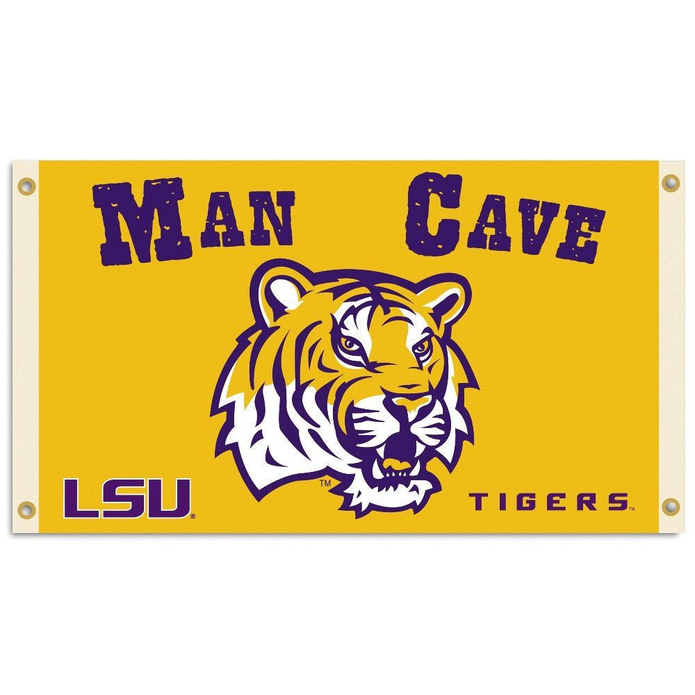 NCAA LSU Tigers 3 x 5-Feet Collegiate Flag with Grommets