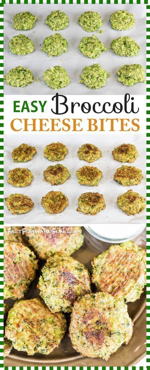 Gebackene Brokkoli-Käse-Bissen (4 Zutaten!) Auf der Suche nach gesunden und – Carey&CleanEatingS