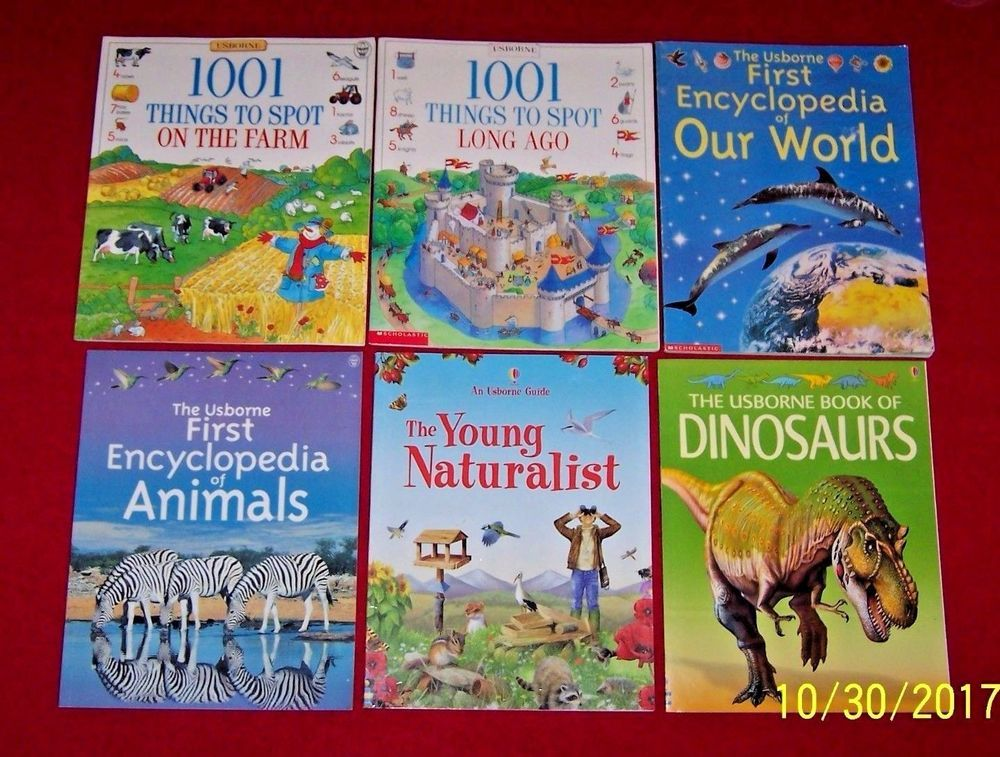 6 usborne nonfiction books first encyclopedia of animals