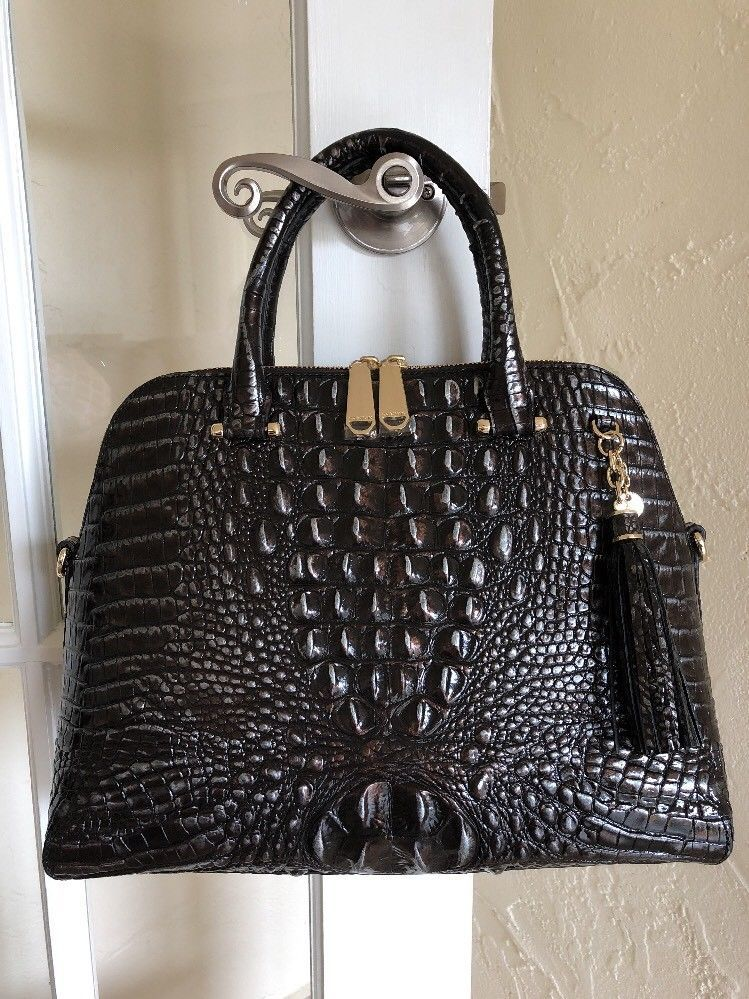 Brahmin Sydney Satchel Ironwood Melbourne Leather ...