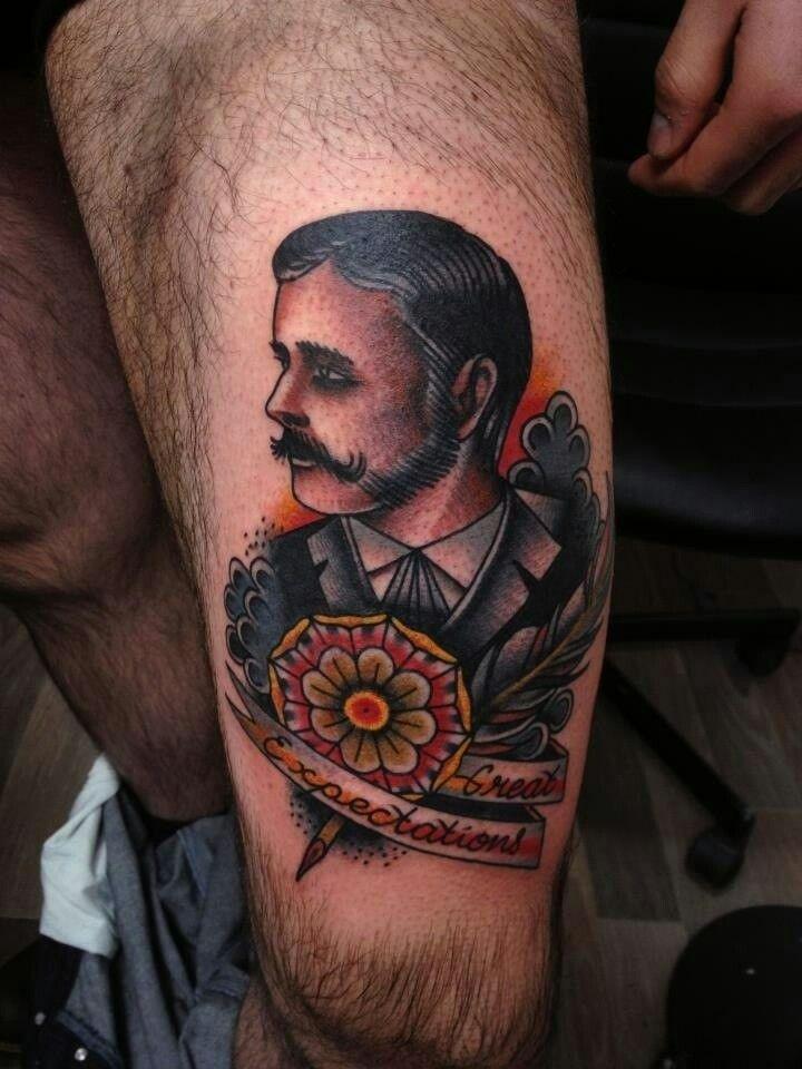 American Traditional Male Portrait Gentleman Tattoo Tattoos Tattoos For Guys