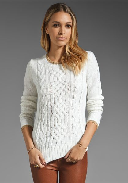 Cable Knit Sweater | Trina Turk Chunky Cable Knit Nordic Sweater ...