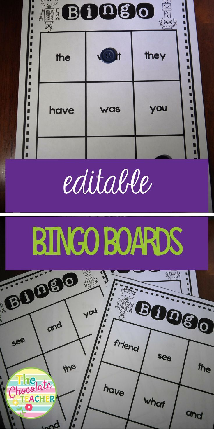 BINGO Editable Easy Fill With 3 Different Board Options
