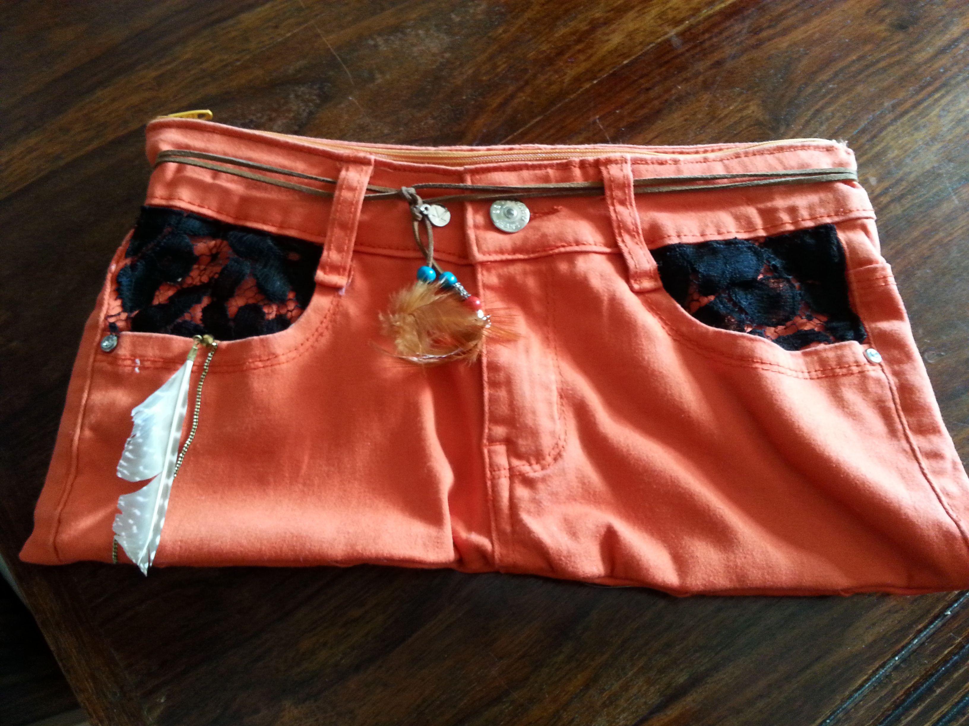 pochette orange recto