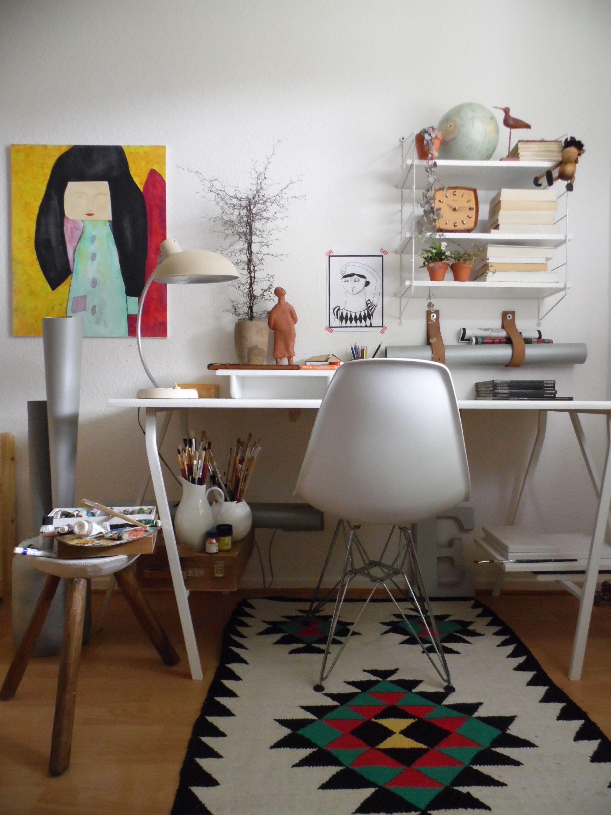 Kräftige Farben Chaos Mischmasch Hier Ist Alles Erlaubt Arbeitszimmer Einrichten Ideen Für Gästezimmer Haus Deko