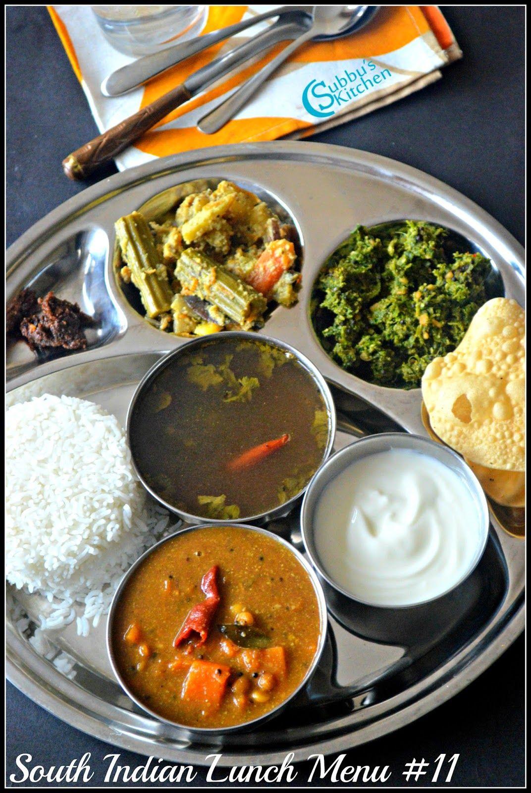 South Indian Lunch Menu 11 Parangikai Puli Kuzhambu Aviyal
