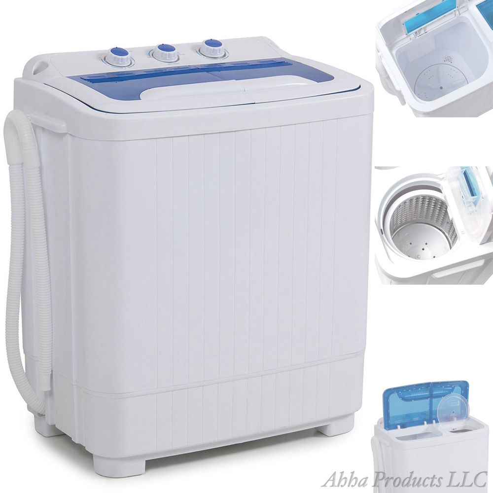 2 In1 Small Portable Washer Dryer Set Washing Machine Spin Dry
