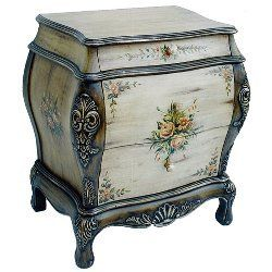 Hand Painted Bombay Cabinet