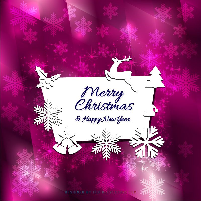 Merry Christmas And Happy New Year Card Background Design Merry Christmas And Happy New Year Happy New Year Cards New Year Card