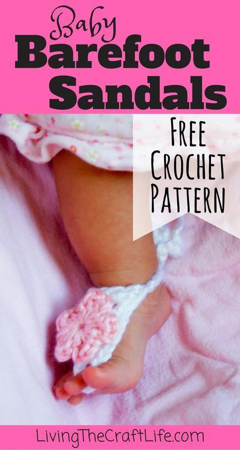 Baby Barefoot Sandals Basic Baby Barefoot Sandals Free Crochet