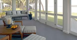 realistic porch painted white