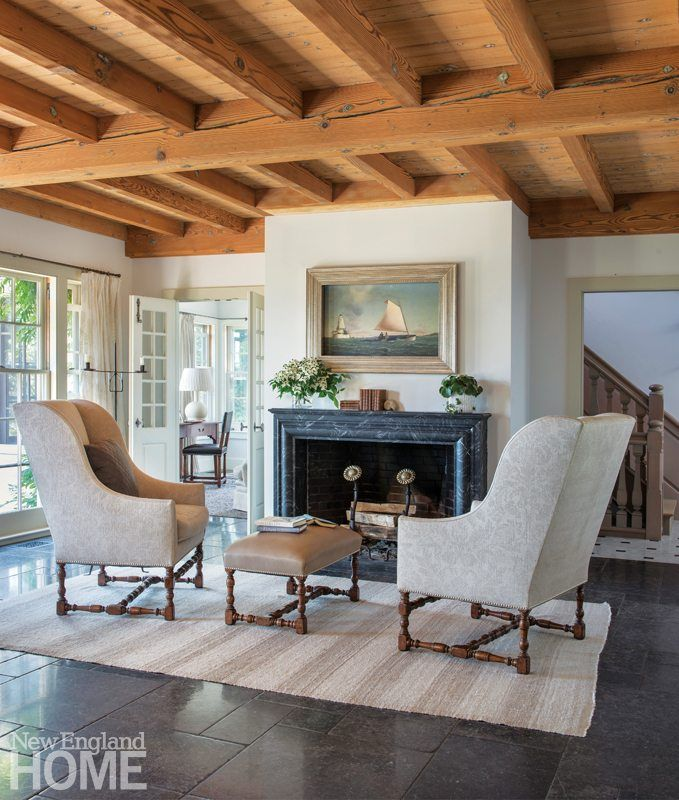 Style And Sustainability On Cape Cod Powder Room Ideas Pinterest Gorgeous Cape Cod Living Room
