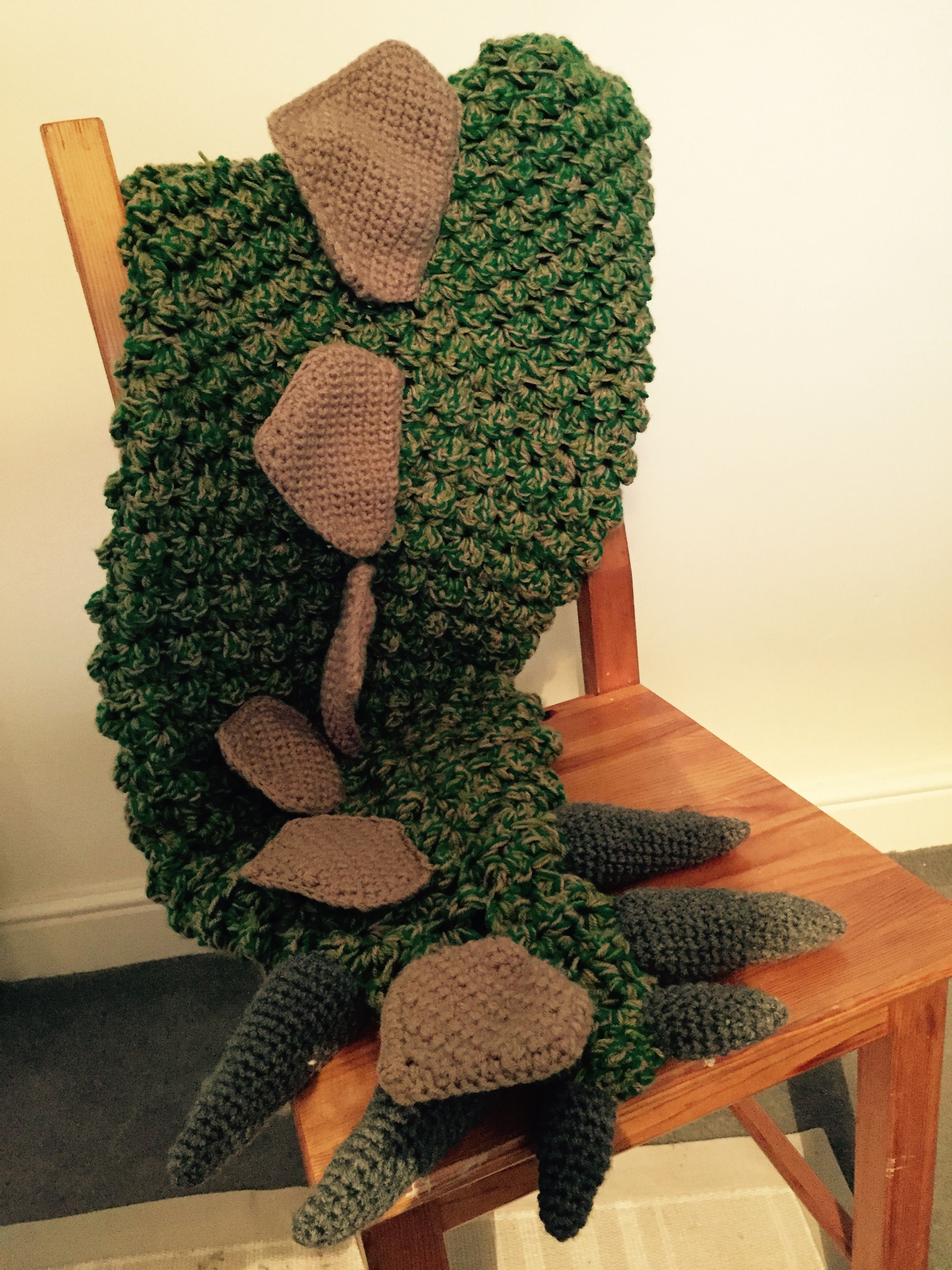 Crochet Dinosaur tail blanket, can be made for all sizes, pattern ...