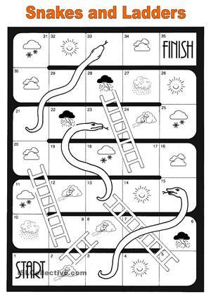 weather - snakes and ladders | English | Pinterest | Snake and Weather