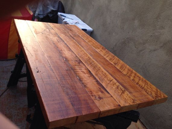 A Old Growth Douglas Fir Table Top Made From Vintage 2x6 1 2roofing Joists Reclaimed In Califor Wood Table Top Reclaimed Wood Table Top Reclaimed Wood Table