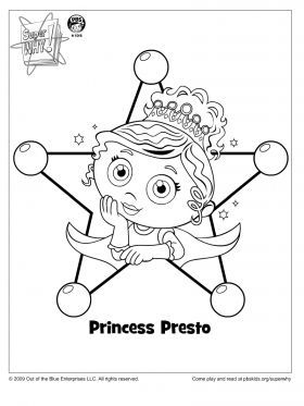 princess presto coloring page super why coloring pages for kids sprout