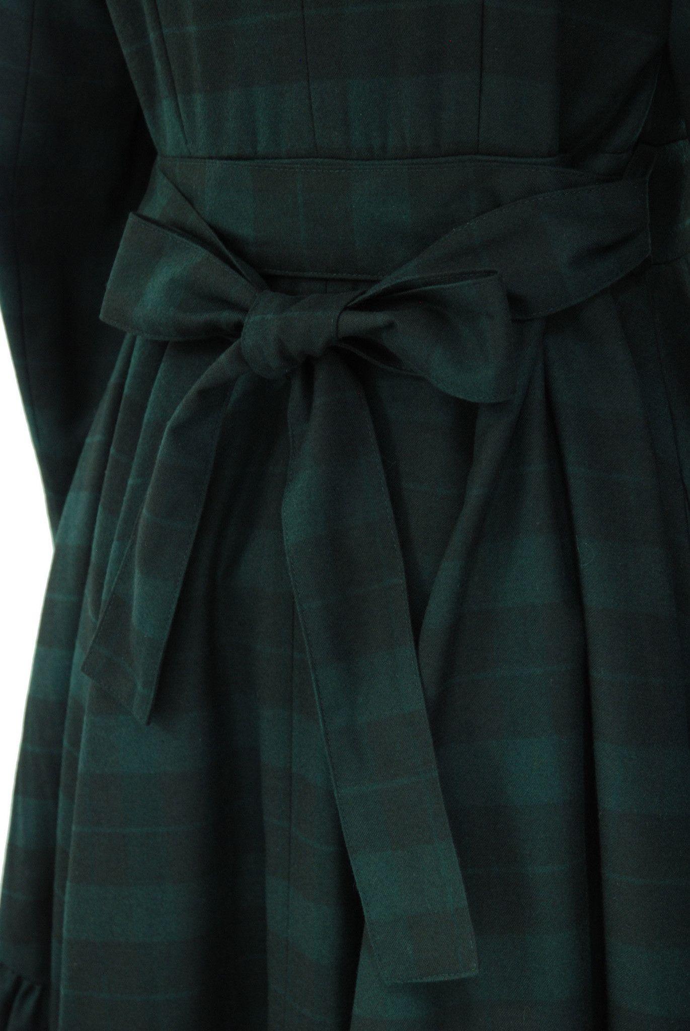 "Sheglit ""Long tail frill coat dark green"""