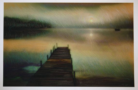 Fishing at dawn 11x17 Fine Art photograph by dahliahousestudios, $99.00