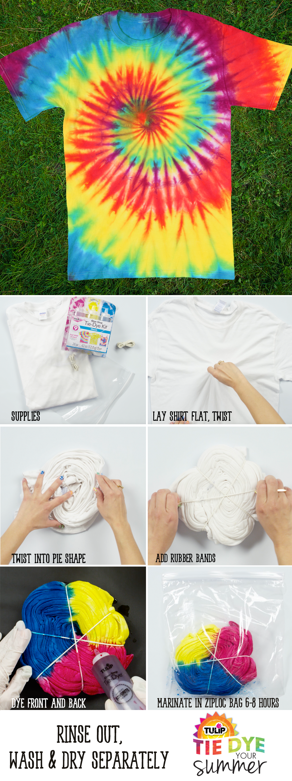 How To Do Spiral Tie Dye Patterns With Tulip One Step Tie