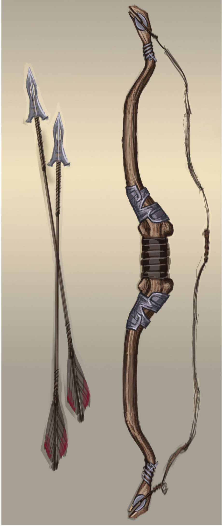 Steel Bow Concept Art From The Elder Scrolls V Skyrim By Adam