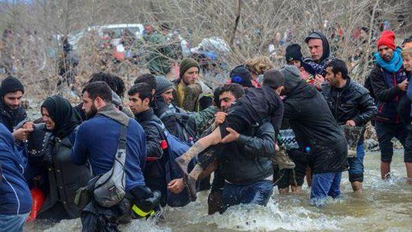 fontera Grecia-Macedonia, marzo 2016