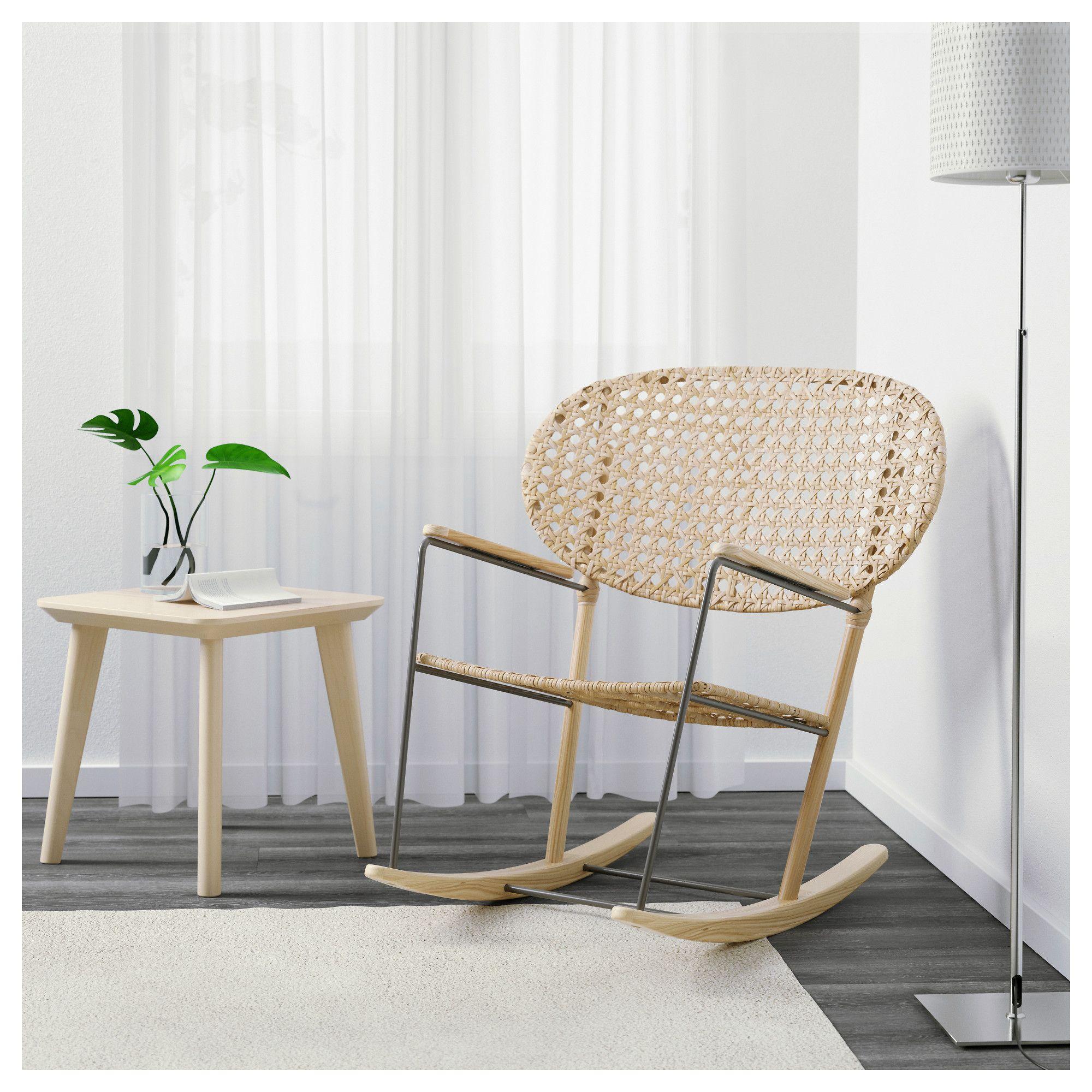GR–NADAL Rocking chair Grey natural