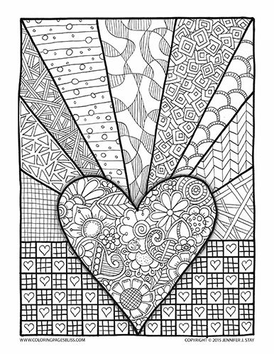 Adult Coloring Pages | Adult Coloring Pages | Valentine ...